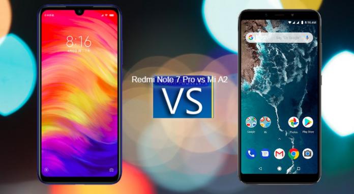 Xiaomi Redmi Note 7 Pro vs Mi A2