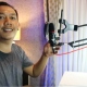 RECORDING MIC STAND – Suspension Scissor Arm Tripod